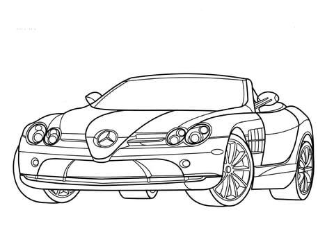 Dibujo De Mercedes Benz Mclaren Slr Para Colorear