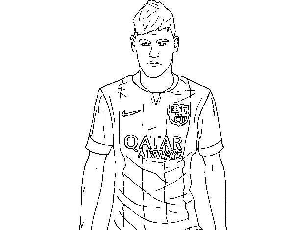 Dibujo De Neymar Jr  Para Colorear