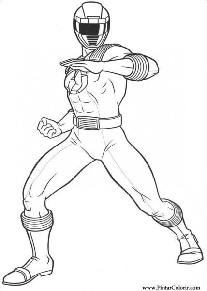Desenhos Para Pintar E Colorir Power Rangers