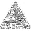 Piramide Alimenticia Para Colorear