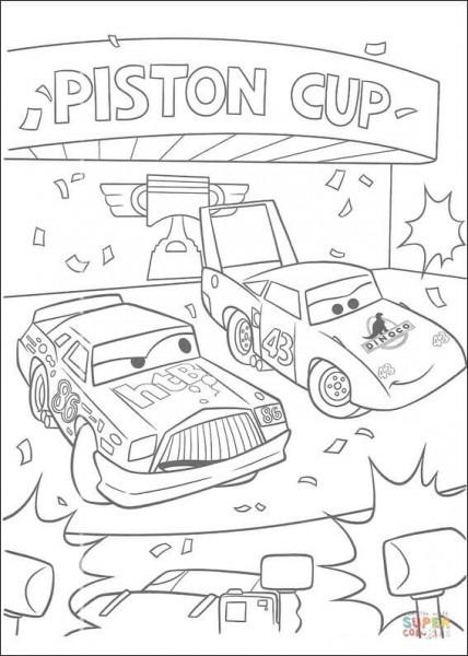 Dibujo De La Copa Pistón Para Colorear