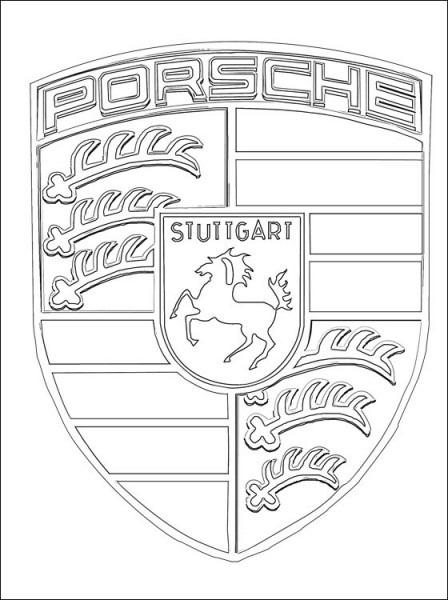 Porsche Logo Coloring Page