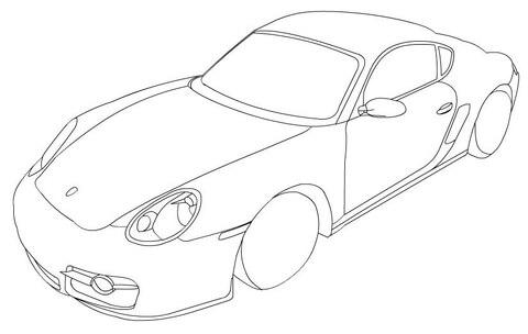 Dibujo De Porsche 911 Para Colorear