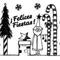 Felices Fiestas Colorear