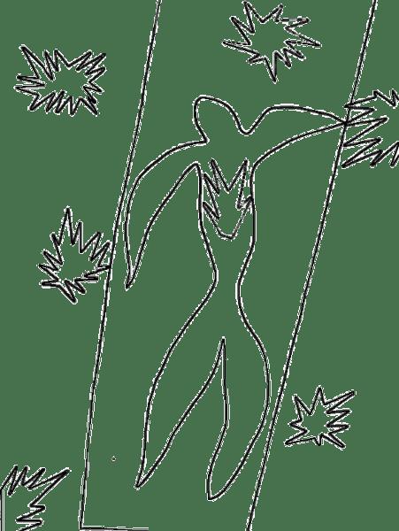 Posters Para Colorear  Ícaro, De Henri Matisse