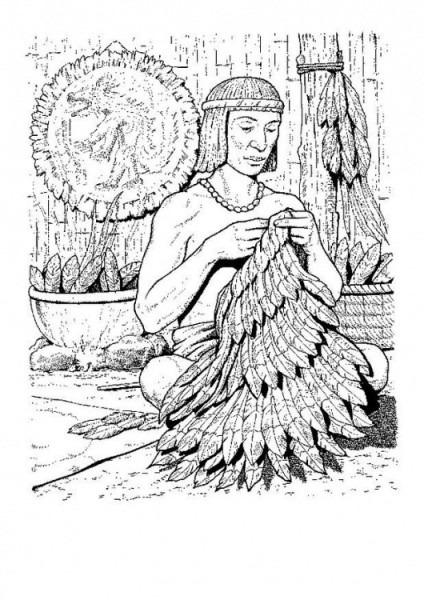 Imagenes De Guerreros Aztecas Para Colorear