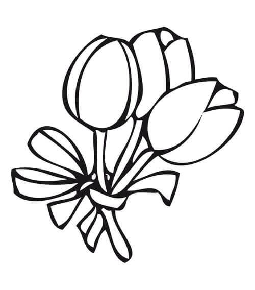 Ramos De Flores Para Colorear – Ramos De Flores Y Decoración De