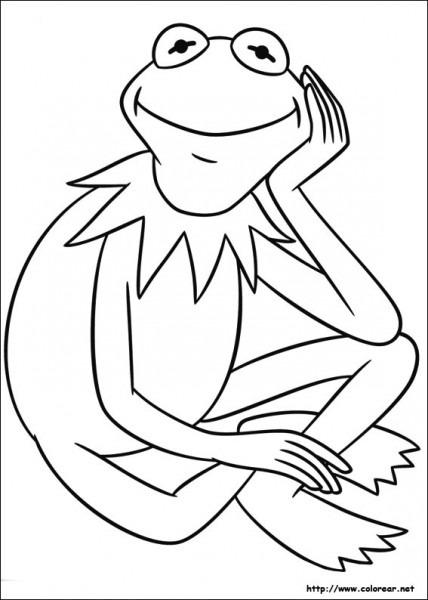 Dibujos Para Colorear De La Rana René