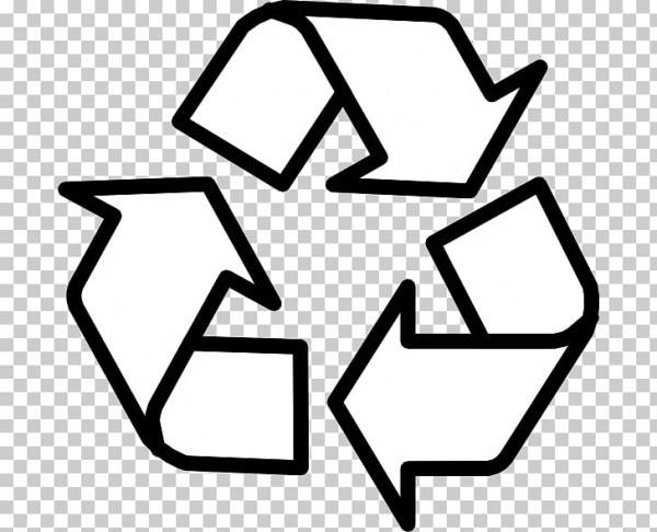 Símbolo De Reciclaje Para Colorear Libro Reutilización, Signo De