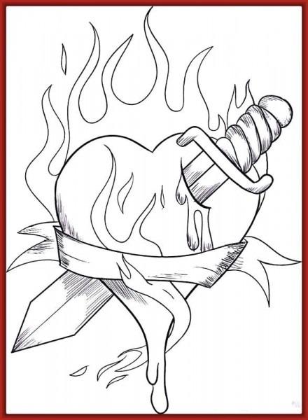Dibujos De Corazon Y Rosas