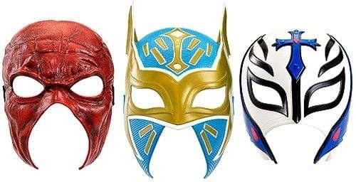 Set 3 Mascaras Rey Mysterio Kane Sin Cara Mark 3 Pack Ww