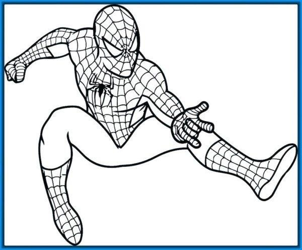 Dibujos Para Colorear De Spiderman