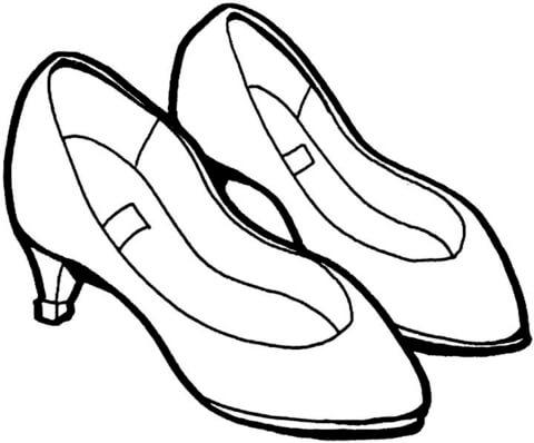 Dibujo De Zapatos De Verano Para Colorear