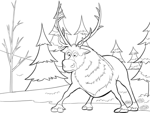 Dibujo De Sven De Frozen Para Colorear