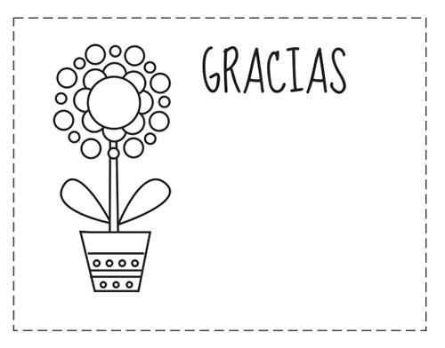 Tarjetas De Gracias Para Colorear