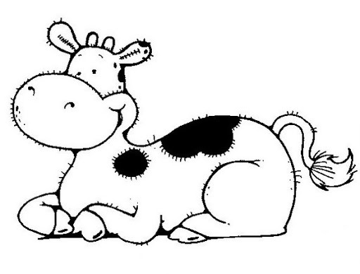 Vaca Animados Para Colorear
