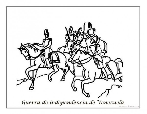 Dibujos Del Día De La Independencia De Venezuela Para Pintar