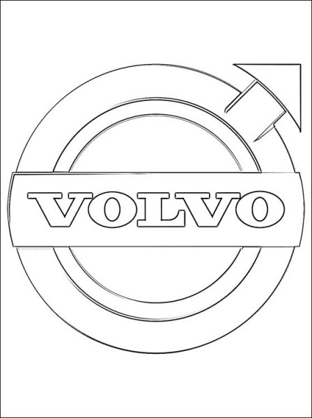 Coloring Page Volvo