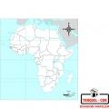 Mapa Fisico Africa Para Colorear