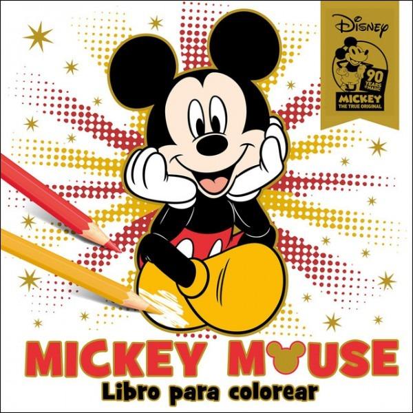 Mickey Mouse  Libro Para Colorear  Especial 90 Aniversario Libro
