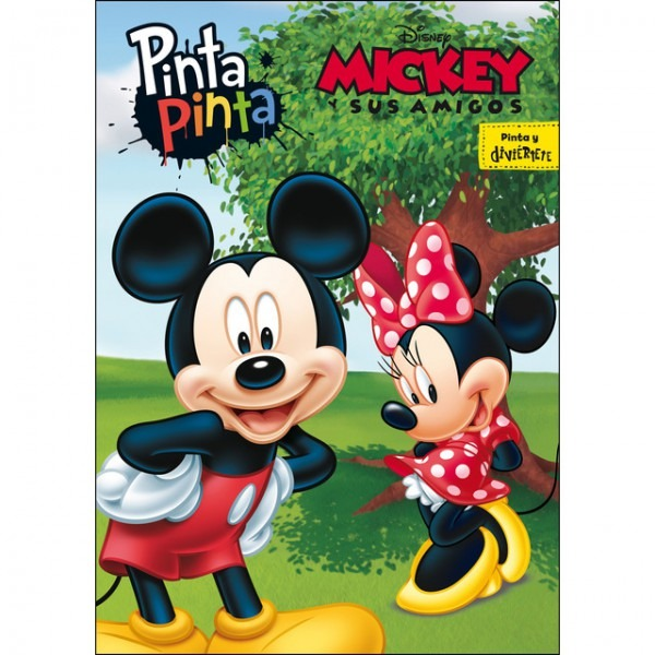Mickey Y Sus Amigos  Pinta Pinta  Libro Para Colorear Pdf Gratis