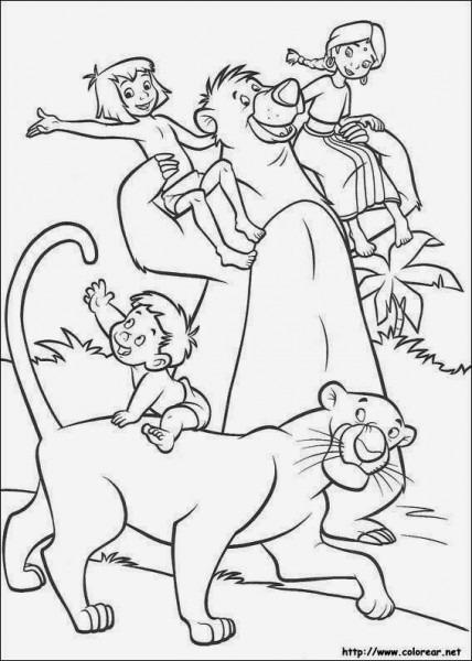 Maestra De Primaria  El Libro De La Selva, Dibujos Para Colorear