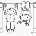 Dibujos Infantiles De Ni?os Jugando Para Colorear
