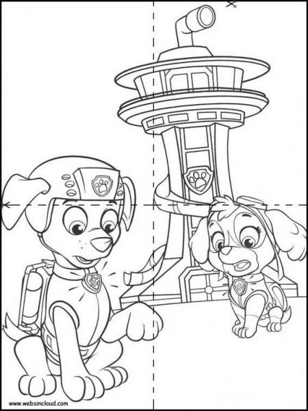 Puzzles Rompecabezas Para Imprimir Para Niños Patrulla Canina 17