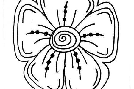 Dibujos De Flores Japonesas Para Colorear A4