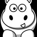 Animales Para Colorear Hipopotamo