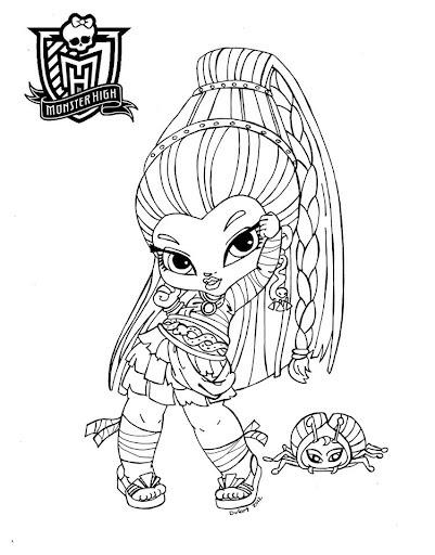 Monster High Dibujos Para Imprimir Y Colorear  Dibujos Monster