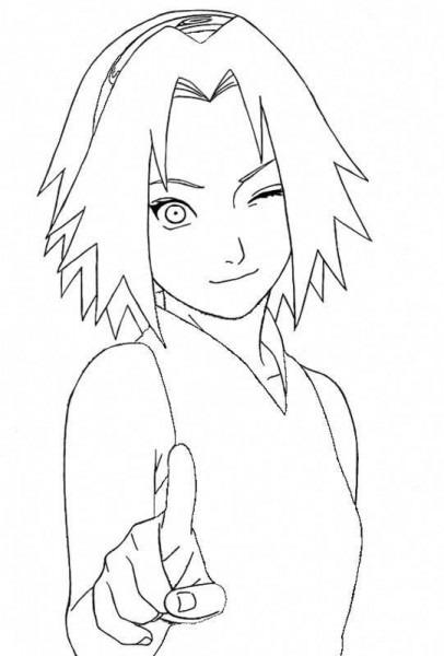 Sakura Para Pintar  Animeart
