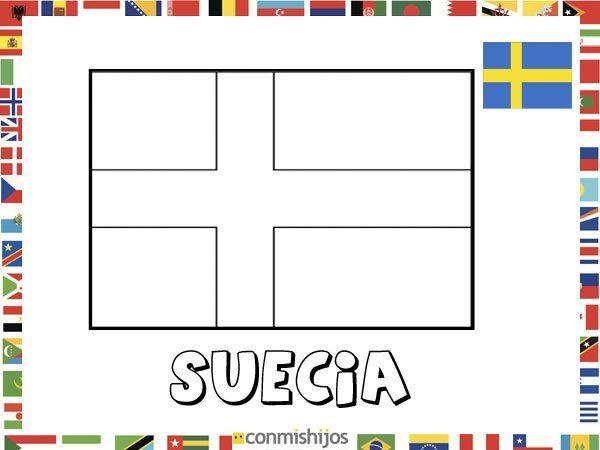 Bandera De Suecia  Dibujos De Banderas Para Pintar