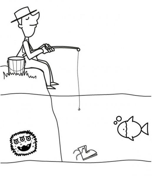 Imprimir  Pescador  Dibujo Para Colorear E Imprimir