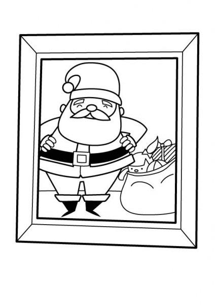 Imprimir  Papá Noel Con Su Saco De Regalos  Dibujo Para Imprimir Y