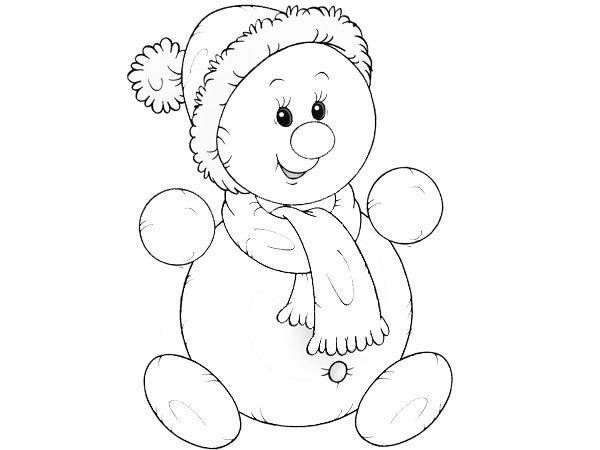 Tiernos Dibujos De Monos De Nieve Para Colorear