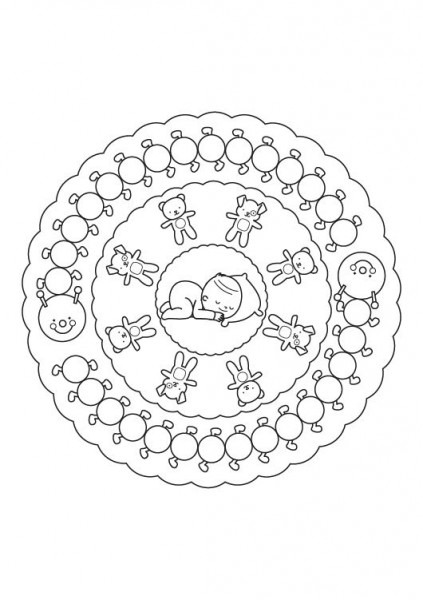 Mandala Bebé  Dibujo Para Colorear E Imprimir
