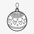 Dibujos Para Colorear De Navidad Bolas
