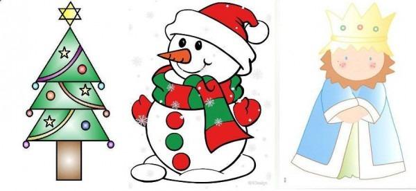Dibujos De Navidad Para Colorear Con Niños