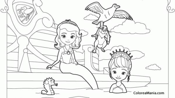 Colorear La Princesa Sofía 2 (la Princesa Sofía), Dibujo Para
