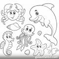 Dibujo Del Oceano Para Colorear