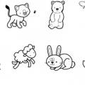 Conjunto De Animales Para Colorear