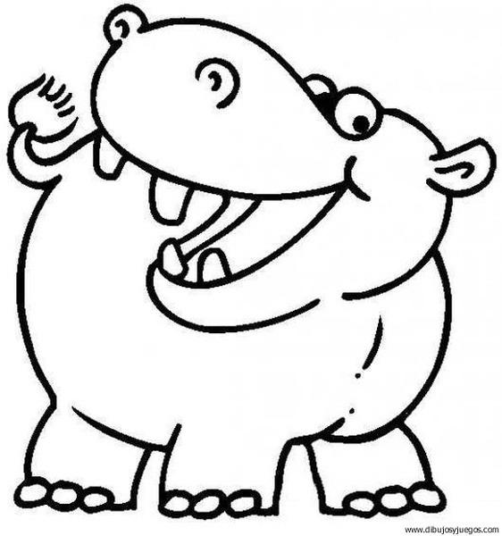 Hipopotamos Animados Para Colorear