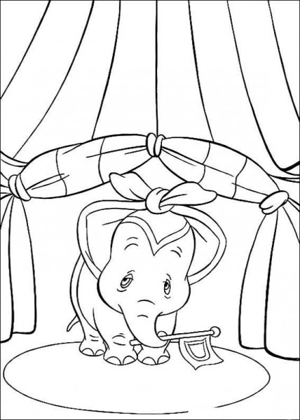 Dibujos Para Colorear Dumbo 15