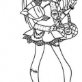 Frankie Monster High Para Colorear