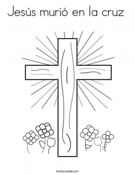Jesús Murió En La Cruz Coloring Page