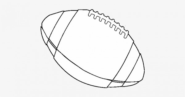 Dibujo De Balón De Fútbol Americano Para Colorear