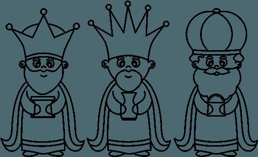 Download Dibujo De Los 3 Reyes Magos Para Colorear