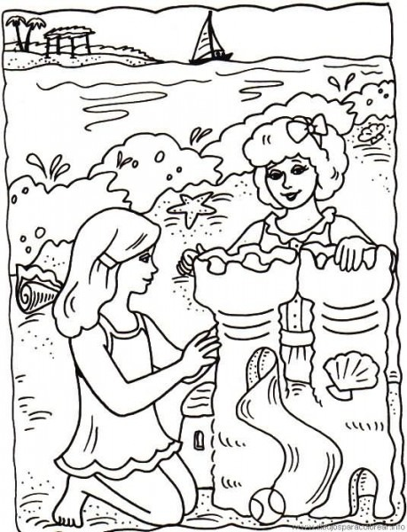 Dibujos Para Colorear Sobre El Verano