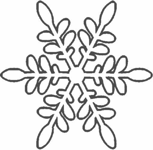 Colorea Tus Dibujos  Copo De Nieve Para Colorear Y Pintar